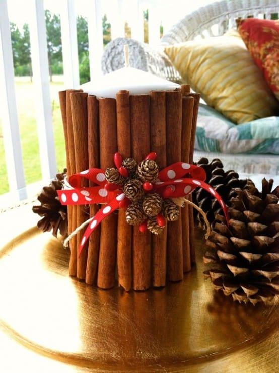 Χριστουγεννιάτικη διακόσμηση με κεριά