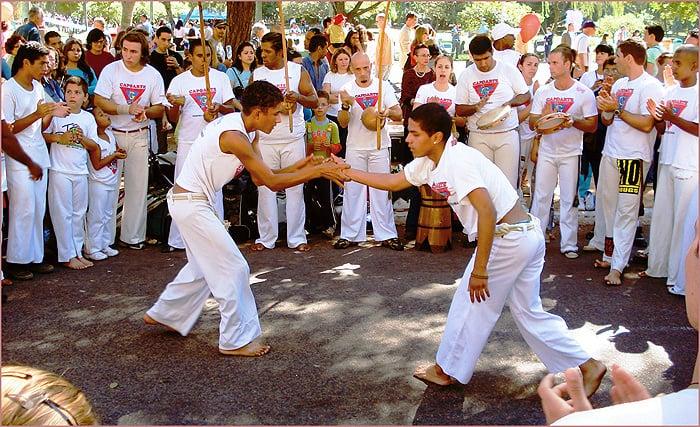 practitioners of capoeira